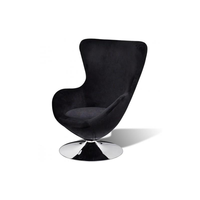 chaise forme oeuf pivontante noir. Black Bedroom Furniture Sets. Home Design Ideas