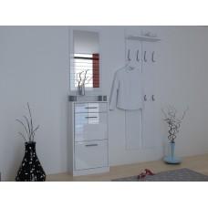 Ensemble de meubles de  rangement pour hall entrée blanc