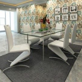 Ensemble de 6 chaises design blanches