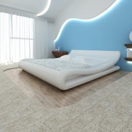 Lit vague design blanc avec matelas 180 x 200 cm