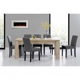 Table en bois 180 cm avec 6 chaises