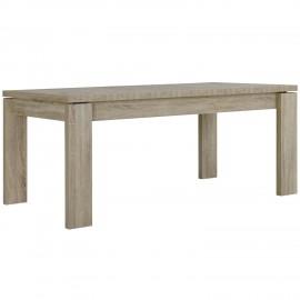 Table couleur chêne de 180 cm