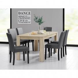 Ensemble de 6 chaises avec table