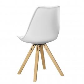 6 chaises design en PVC blanc