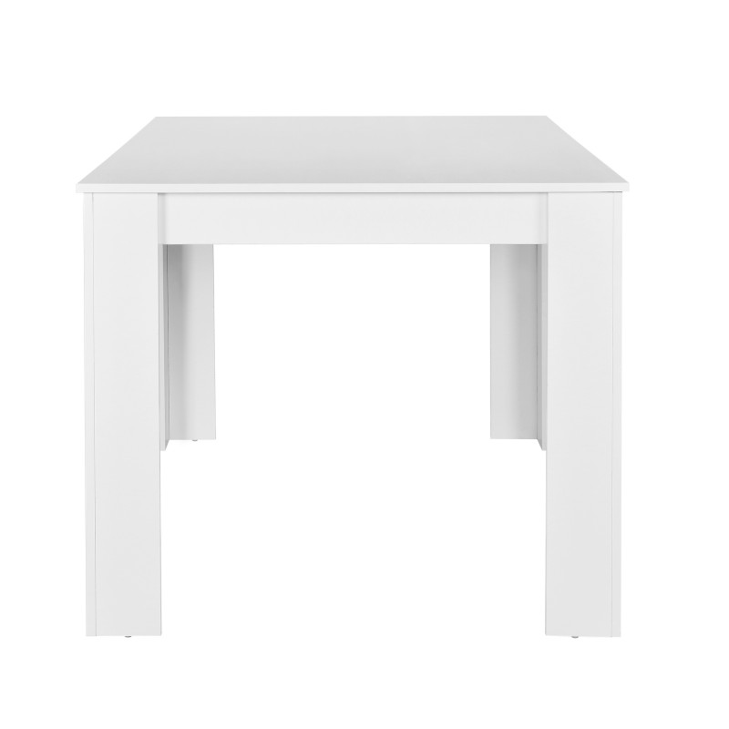 Table salle manger 140 x 90 cm en mdf blanc for Table cuisine 140 x 90