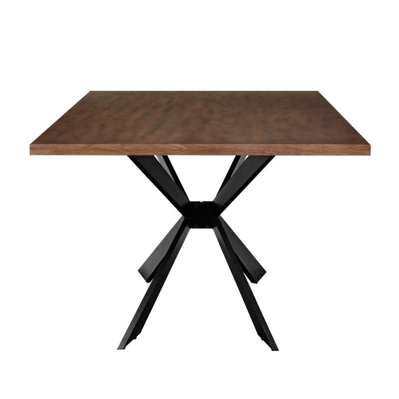Table de salle manger en bois et fer 200 x 100 cm for Table salle a manger bois et fer