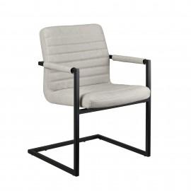 6 chaises design Ivoire en PU et métal