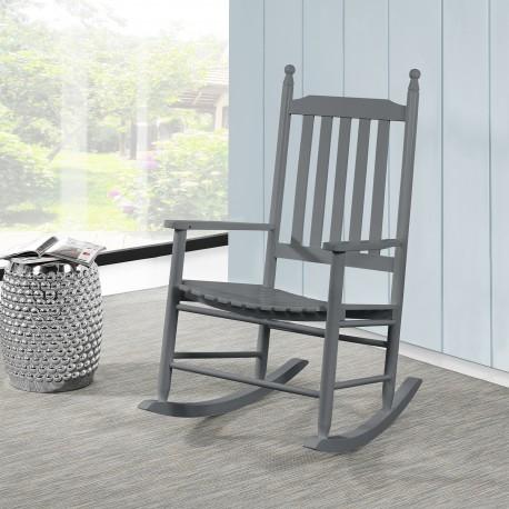 Rocking Chair En Bois Gris