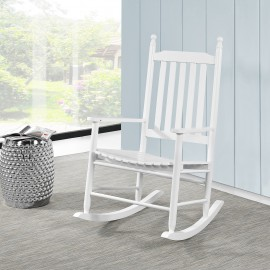 Rocking Chair en bois blanc
