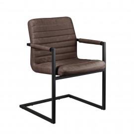 Ensemble de 6 chaises design brun