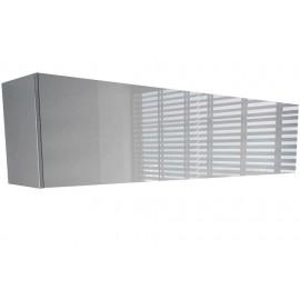 Colonne suspendue blanche mat + laquée 120 x 25 x 30 cm