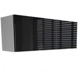 Colonne suspendue blanche mat + noir  laquée 80  x 25 x 30 cm