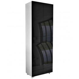 Meuble  blanc mat + noir  brillant 175 + 60 + 34  cm