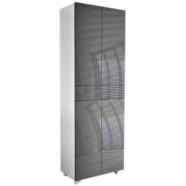 Meuble  blanc mat + gris brillant 175 + 60 + 34  cm