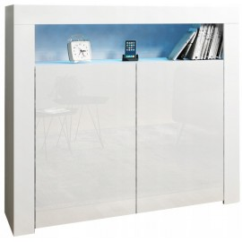 Meuble blanc  avec led  rgb  107 x 97 x 35 cm