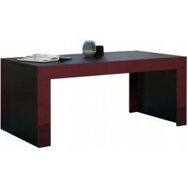 Table basse 120 x 60 noir mat + bordeaux brillant