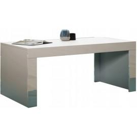 Table basse 120 x 60 blanc mat + blanc brillant