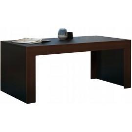Table basse 120 x 60 noir mat + noyer