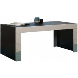 Table basse 120 x 60 noir mat + blanc brillant