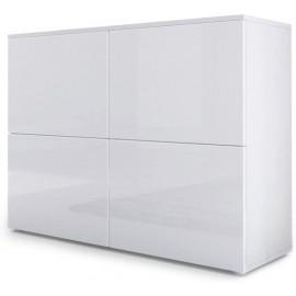 Meuble blanc mat et façades laquées H 72 x L 92 x P 35