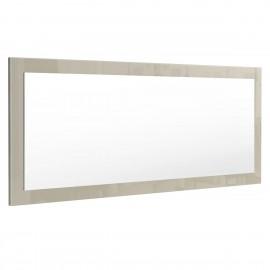 Miroir gris sable  brillant (HxLxP): 139 x 55 x 2