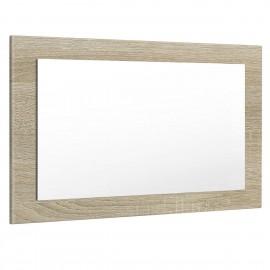 Miroir aspect chêne brillant (HxLxP): 45 x 89 x 2