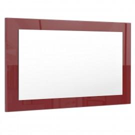 Miroir bordeaux brillant (HxLxP): 45 x 89 x 2
