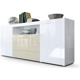 Buffet blanc  / crème brillant  (HxLxP) : 72 x 167 x 35cm