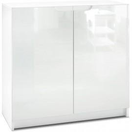 Armoire de Bureau  blanc mat/ Blanc haute brillance (HxLxP): 78 x 82 x 37