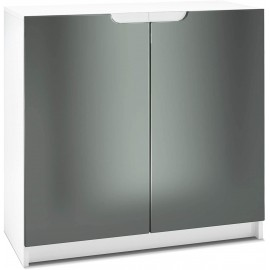 Armoire de Bureau  blanc mat/   Graphite satiné (HxLxP): 78 x 82 x 37