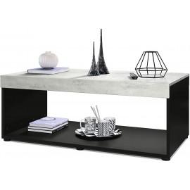 Table basse noir / béton (LxHxP): 104 x 40,5 x 58
