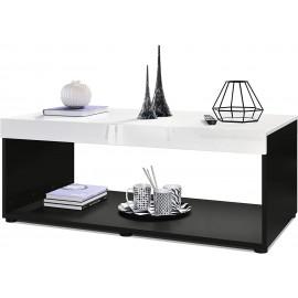 Table basse noir /  blanc  (LxHxP): 104 x 40,5 x 58