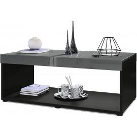 Table basse noir /  gris  (LxHxP): 104 x 40,5 x 58