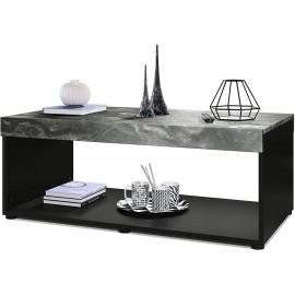 Table basse noir /  aspect marbre (LxHxP): 104 x 40,5 x 58