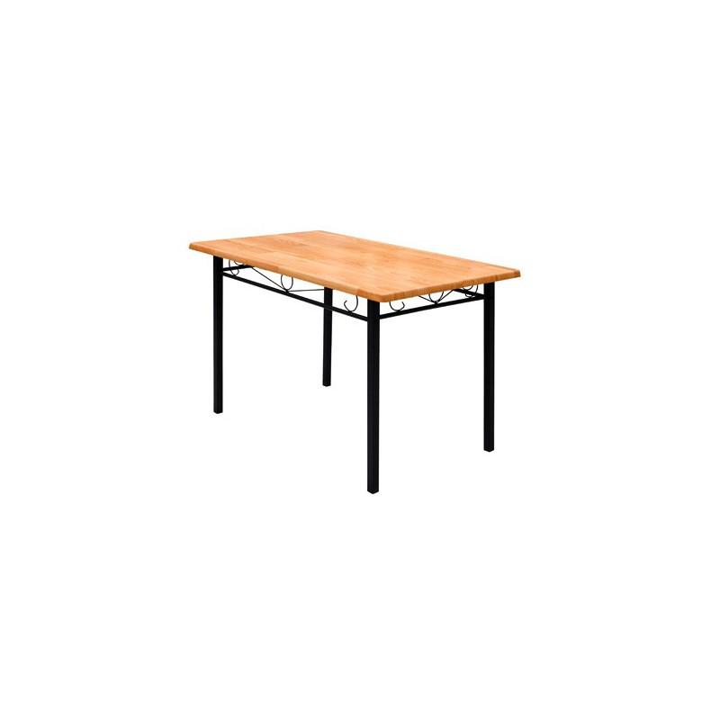 Ensemble de 4 chaises et 1 table en bois et m tal - Ensemble table et chaises ...