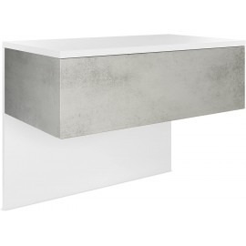 Chevet  blanc mat/ béton oxyde