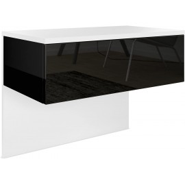 Chevet blanc mat/ noir haute brillance