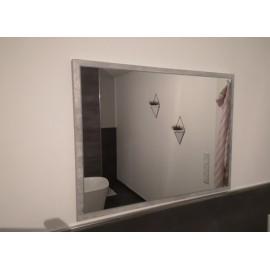 Miroir  60 x 45 cm gris béton
