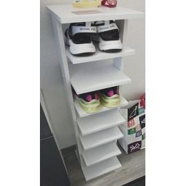 Étagère à chaussures blanche 26,7 x 110 x 27,7 cm (LxHxP)