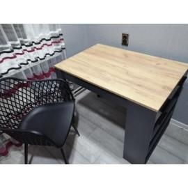 Table de bar chêne anthracite 67 x 77,5 x 100 cm (LxHxP)