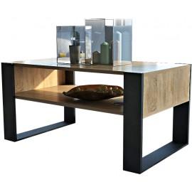 Table basse aspect chêne wotan 100 cm