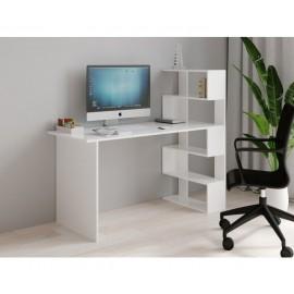 Table de travail avec étagère 143,6 x 122,2 x 60 cm (LxHxP)