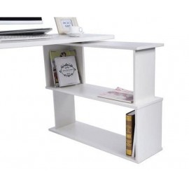 Bureau blanc en forme de L 120 x 74 x 90 cm (LxHxP