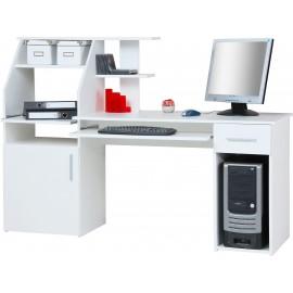 Bureau blanc avec étagères /tiroir/ 1 porte