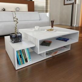 Table  basse blanche 105 x 32 x 60 cm (LxHxP)
