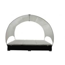 Canapé lit double en résine tressé