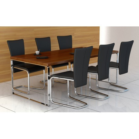 Ensemble de 6 chaises design noir
