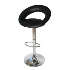 Ensemble de 2 tabourets de bar design noir