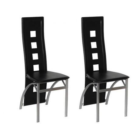 Ensemble de 2 chaises design noir