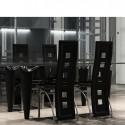Ensemble de 4 chaises design noir